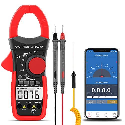 Pinza Amperimétrica Profesional AP-570CAPP Multímetro Digital Automático, Medidor de Corriente Voltaje AC/DC, Resistencia, Continua, Diodos Pinza, 2 Años de Garantía
