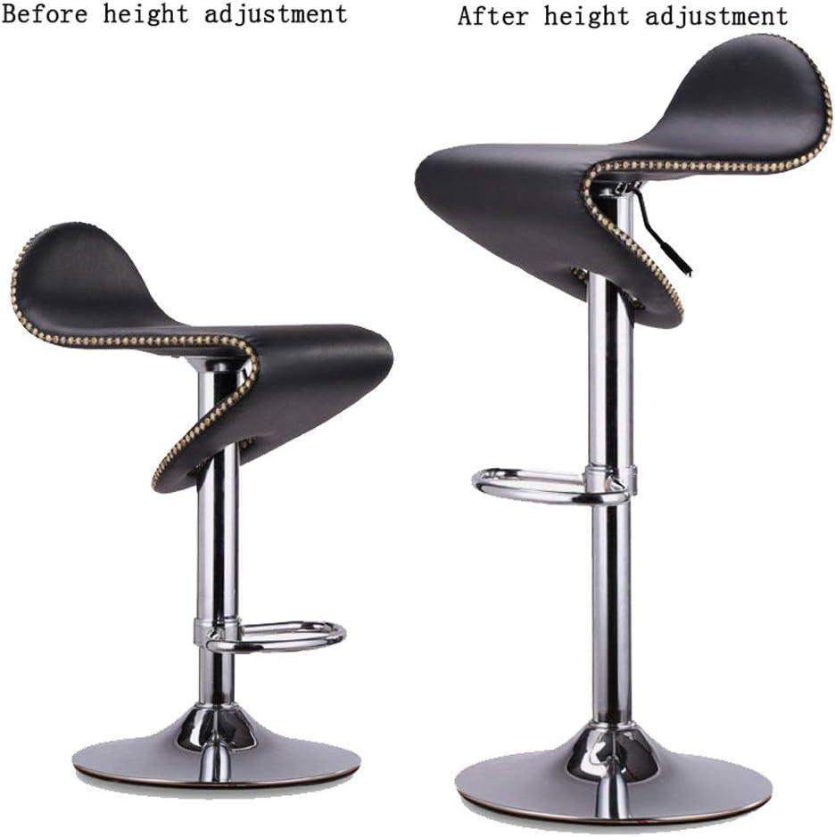 SLL- Chaise de Bar Peut être surélevée et abaissée Chaise Haute rotative Réception Caisse enregistreuse Chaise pivotante Tabouret de Bar en métal Moderne (Color : C) C