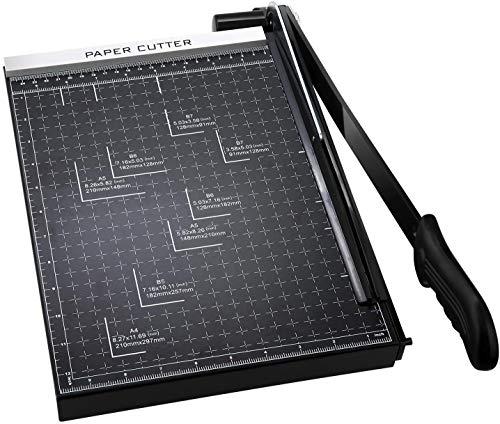 裁断機 ペーパーカッター カッティングマシン A4 家庭用 仕事用 黒