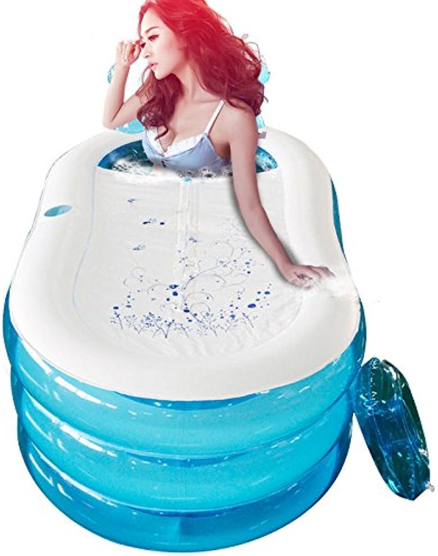 LybCvad Inflatable Bathtub Folding Bathtub Adult Bathtub Thickening Large bluee 1508570cm