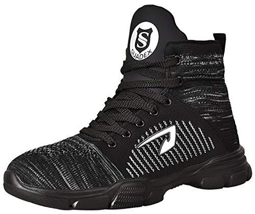 SUADEX 安全靴ハイカット あんぜん靴 ブーツ 作業靴 冬用 ショートブーツ安全グレー 軽量 作業はいカット ブーツあんぜん 安全半長靴 鋼先芯 耐摩耗 ケブラー防刺 耐滑