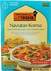 Vegetables diced and cooked with cashews and cottage cheese in a special gravy Ancient recipes handcrafted by Master Chefs of ITC Hotels Vegan, 100% all-natural, and preservative free Kosher Approved and gluten free Product of India