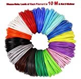 Magicwand® 🎨 Set of 10 (10 Metres Each),1.75 mm PLA Filaments for 3D