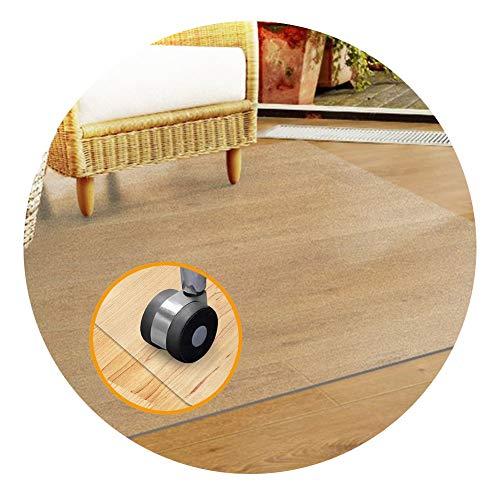 GFSD Alfombrilla Protectora Suelo, Plástico PVC Felpudo Protector Suelo Transparente, for Mesa de Comedor O Escritorio de Oficina (Color : 1.6mm, Size : 80X80CM)