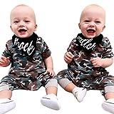 🔥Allence Baby Jungen Mädchen Camouflage Print Kapuzen-Overall Overall Kleidung Outfits + Bibs