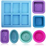 FineGood - Stampo per sapone in silicone per uso alimentare, 13 pezzi, per cupcake, muffin, per fai da te in casa, colore: blu, rosso, viola, verde
