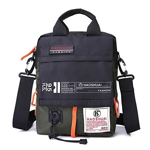 JPDP Men's Bag Messenger Bag Male Waterproof Nylon Camouflage Satchel Over The Shoulder Crossbody Bags Handbag Mini Briefcase XA99WC Army Green