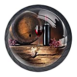 Idealiy Red Wine Grape Fruit Drawer Pulls Handles Cabinet Dressing Table Dresser Knob Pull Handle with Screws 4pcs
