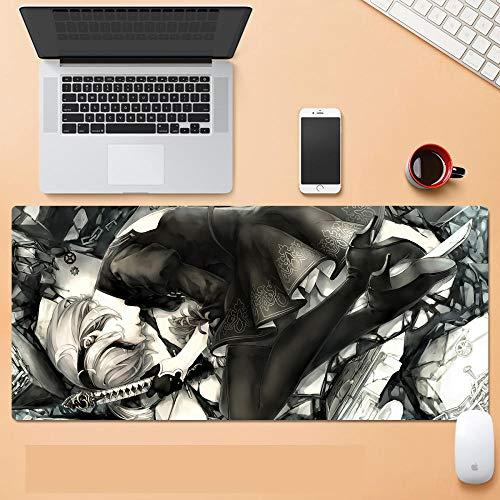 Gaming Mauspad XXL Grosses 900x400mm Anime Mausunterlage Schreibtischunterlage Wasserdicht rutschfest Matte fur Computer PC und Laptop Gaming NieRAutomata F800x300x3