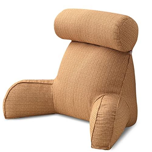 FDNFG Seat Cushion Chair Stoff Ehemann Kissen 29.52x15.75x15.75 Zollwaschbare Taille Kissen Abnehmbare Walze Bett Rest Kissen mit Premium Baumwolle Seat Cushion Chair (Color : Linen)