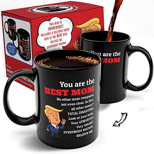 Funny Trump Color-Changing Coffee Mug -Top 2024 MAGA Merchandise - Best Gifts for Women Who Have Everything, Unique Mom Christmas Ideas, Stocking Stuffers, White Elephant Gags & Mother's Day Presents