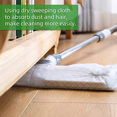 """X Home 180 Count Sweeper Dry Mop Pad Refills 11"""" X 8.6"""" Compatible with swiffer Mops, Unscented Dry Cloth Catch Dust, Dirt, Hair on Various Surfaces"""