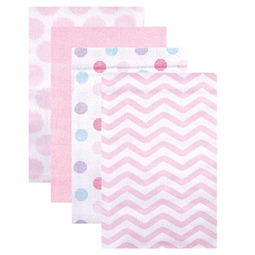 Luvable Friends Unisex Baby Cotton Flannel Receiving Blankets, Pink Dots, One Size