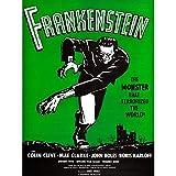 Wee Blue Coo Advert - Lámina de Monstruo con diseño de Karloff de Frankenstein