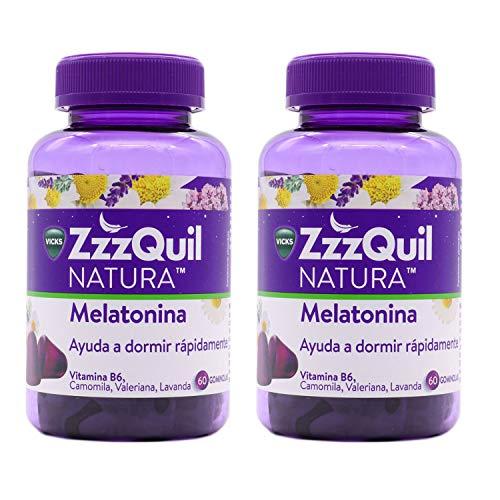 Zzzquil Natura Melatonina 60 Gominolas Para 2 PACK 2 Unidades ( 2 Envases de 60 gominolas)