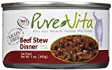 Tuffys Pet Foods Pure Vita Grain Free Beef Stew Cat Food, 1 Count, One Size