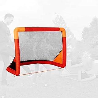Football Goals, Hockey Goal Foldable Football Net Goal Gate Inflatable Pop-Up Football Goal Simple with Bag Foldable for I...