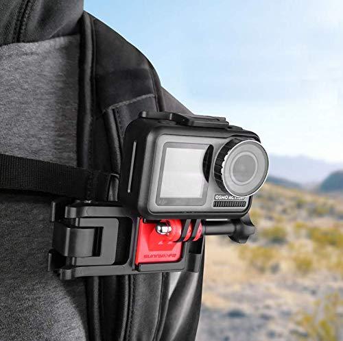 Honbobo Rucksack Clip Montieren Halter Kompatibel mit Insta360 ONE R/für GoPro Hero 9 8, 7, 6, 5, 4, Session, 3+, 3, 2, 1, Hero (2018), Fusion/Osmo Action-Kameras