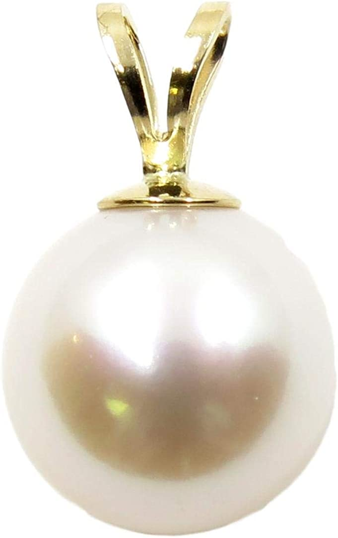 14K Gold Free Shipping Cheap Bargain Gift White Daily bargain sale Freshwater Cultured - AAA+ Pearl Pendant Quality