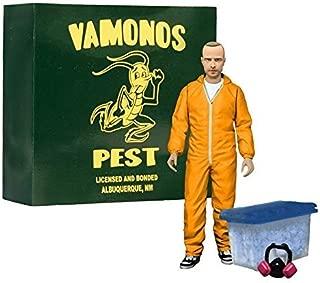Breaking Bad Jesse Pinkman 6 Action Figure - Orange Hazmat Suit EE Exclusive. by Breaking Bad