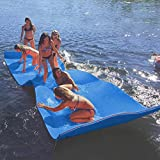 MarKnig Floating Water Mat Foam Water Floating Pad 12 x 6 Feet Lily Pad for Water Recreation for Lakes, Pools &Beach Floatation Pad, Blue