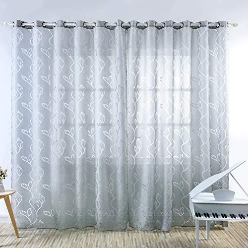 Wakauto 1Pc Bedruckten Vorhang Langlebig Schöne Stilvolle Fenster Gaze Mode Vorhang Französisch Schärpe Drapieren Fensterabschirmung für Wohnzimmer