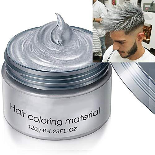 HairWax - Cera de pelo colorante temporal, Cera Colorante del Cabello, efecto de color gris