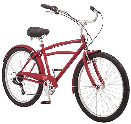 Why Choose Schwinn Huron Adult Beach Cruiser Bike, Featuring 17-Inch/Medium Steel Step-Over Frames, ...