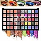 Palette d'ombres à paupières ultra colorée de 50 couleurs, couleurs métalliques...