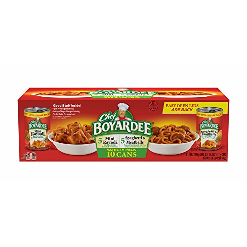 Chef Boyardee Cans, Mini Ravioli and Spaghetti Meatballs, 10-Pk.