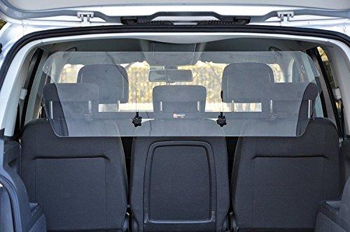 Universal-Trennwand für Auto, Kofferraum-Trennwand, transparent, Für Tiere, Hund 95x34cm.