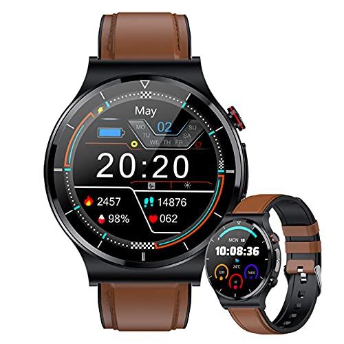 HQPCAHL Smartwatch Temperature Donna Uomo Orologio Intelligente Uomo Bluetooth Activity Tracker Orologio Contapassi Braccialetto Contapassi Fitness Tracker Cardiofrequenzimetro per Android iOS,A