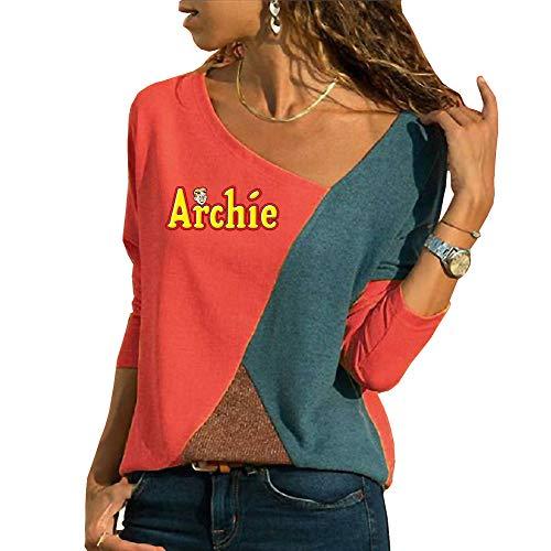 Riverdale Camisetas Tops para Mujer Tshirt Manga Larga Elegante Blusas Casuales Túnica Top Patchwork Camisa Personalizadas