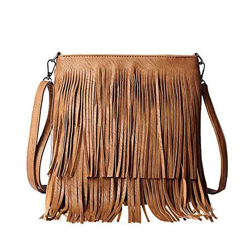 Fringe Suede Leather Retro Hobo Bag Messenger Bag Women
