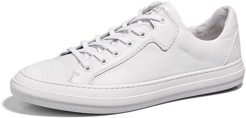 Herren Leder Board Schuhe Sommer Freizeitschuhe Weiße Schuhe