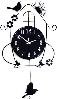 LifeUp - Reloj de cuco (diseño moderno, 70 x 36 cm, movimiento silencioso)