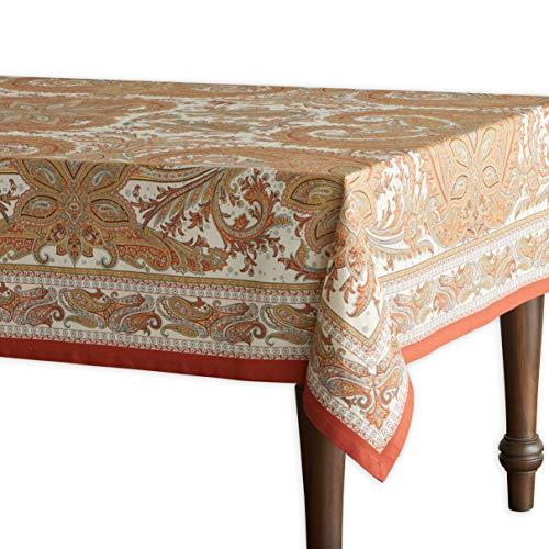 Maison d' Hermine Kashmir Paisley 100% Baumwolle Tischdecke für Küche   Abendessen   Tischplatte   Dekoration Parteien   Hochzeiten   Thanksgiving/Weihnachten (Rechteck, 160 cm x 220 cm)