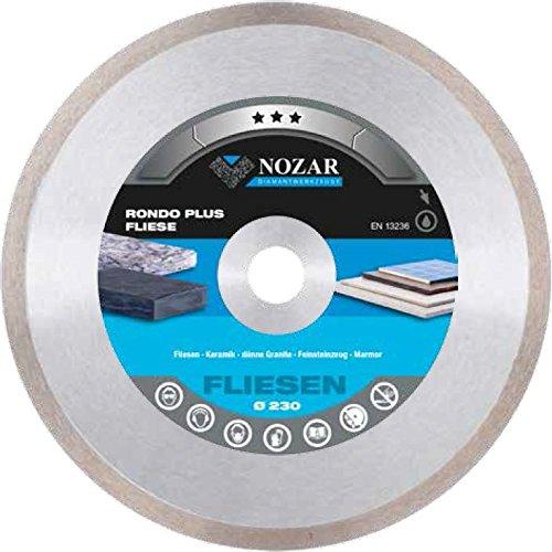 NOZAR Profi Diamantscheibe Fliese Rondo Plus 115 x 22.23 mm für Fliesen, Keramik, dünne Granite, Feinsteinzeug, Marmor
