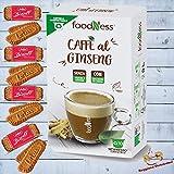 Foodness Capsula Caffè al Ginseng Con Zucchero Di Canna Compatibile Nespresso - 4 Box da 10 Capsule [Tot. 40 Capsule] Il Più Venduto.