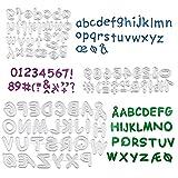 Kit 3 Troqueles Scrapbooking Letras y Números Plantillas de Corte de Metal para Decoración Scrapbooking Álbum Recorte...