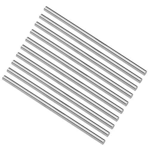 uxcell Round Steel Rod, 4.2mm HSS Lathe Bar Stock Tool 100mm Long, for Shaft Gear Drill Lathes Boring Machine Turning Miniature Axle, Cylindrical Pin DIY Craft Tool, 10pcs