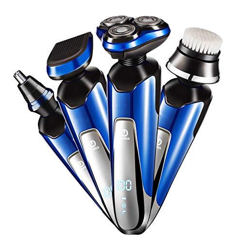HUIHUAN Elektrorasierer für Männer 4 in 1 Bartschneider Wet Dry Waterproof Herren Rotary Shaver USB Schnell wiederaufladbare Rasierer - Bestes Geschenk für Papa, Freund