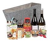 Ducs de Gascogne - Coffret cadeau 'Réserve Gourmande' - comprend 12 produits dont un foie gras entier, un vin rouge et un vin blanc moelleux - spécial cadeau (946610)