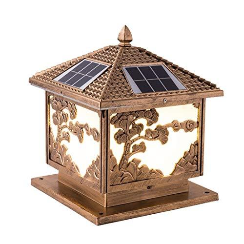 Vinteen Luce Solar Energy postale, Energia solare Pilastro Warm Light terrazza, giardino, Gazebo Colonna luce chiara della parete impermeabile luminosa eccellente risparmio energetico Lampada da tavol