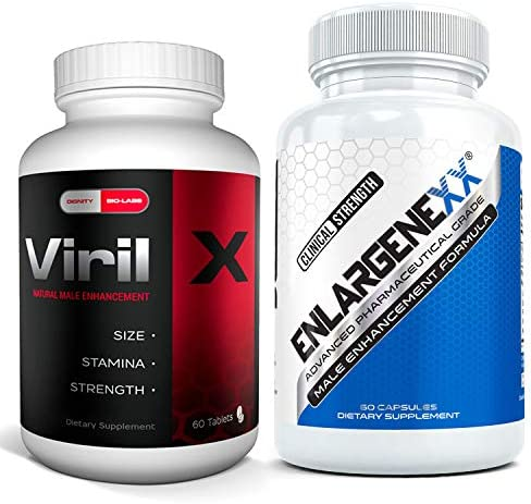 Viril X 60 Caps and Enlargenexx 60 Caps The Ultimate Male Enhancing Growth Bundle for Men Boost product image