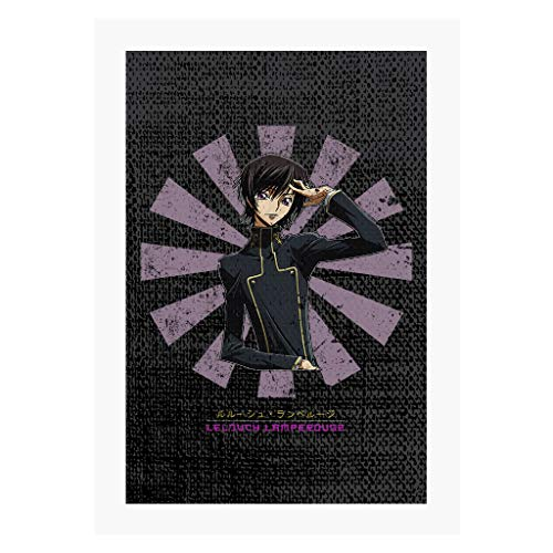 Cloud City 7 Lelouch Lamperouge Retro Japanese Code Geass A4 Print