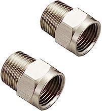 Conector conversor de encaixe de tubo de latão sólido para adaptador macho NPT de 2 peças NPS1/2 polegadas fêmea para 1/2 ...