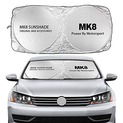 parasole auto volkswagen Parasole Auto Automobili Parabrezza Parasoli Coperture Auto Visite riflettenti Accessori Compatibile con Volkswagen VW Golf 4 5 6 7 MK2 MK3 MK4 MK5 MK6 MK7 MK8 Tende da sole (Color : For MK8)