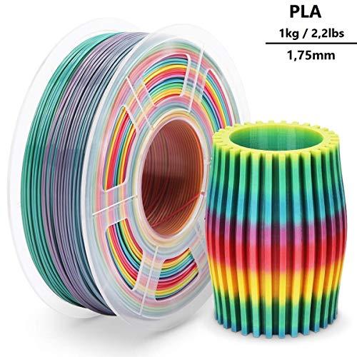 3D-Drucker-Filament PLA 1,75 mm 1kg - Clothink PLA Filament für 3D Printer Arcobaleno