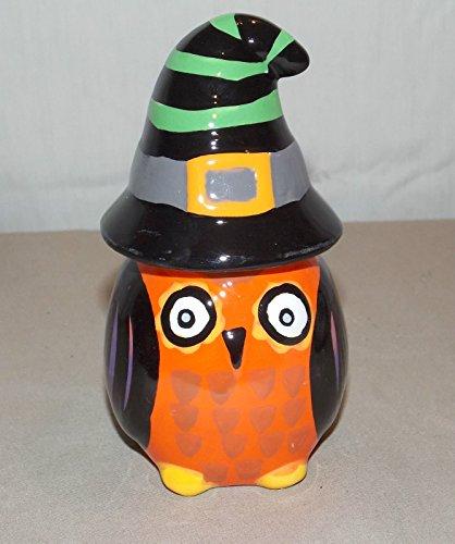 Halloween Ceramic All Owls Eve Witch Owl Salt & Pepper Shakers Set Decor